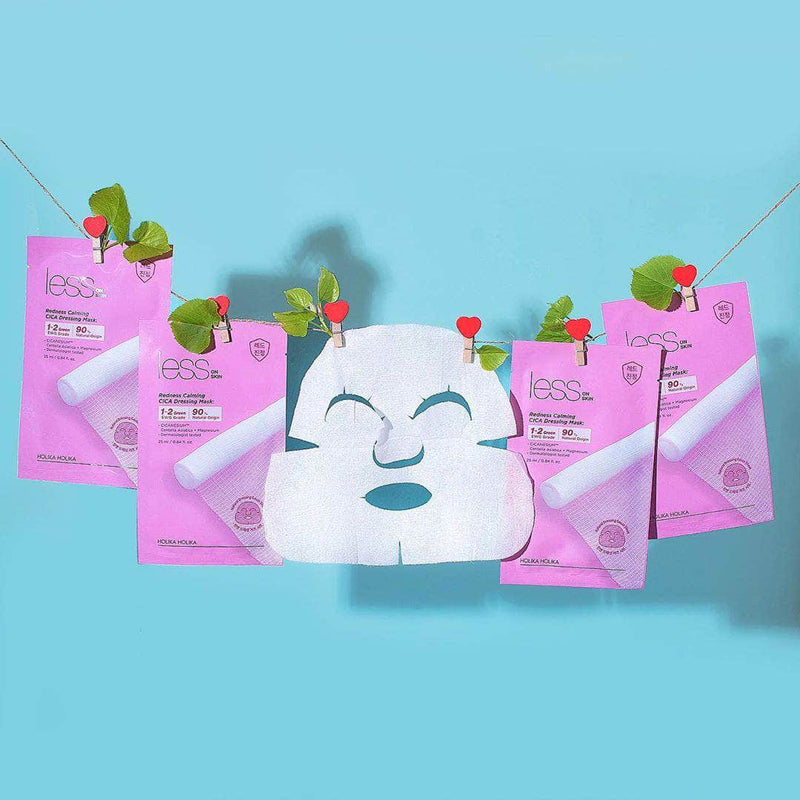 Less on Skin Redness Calming CICA Dressing Mask