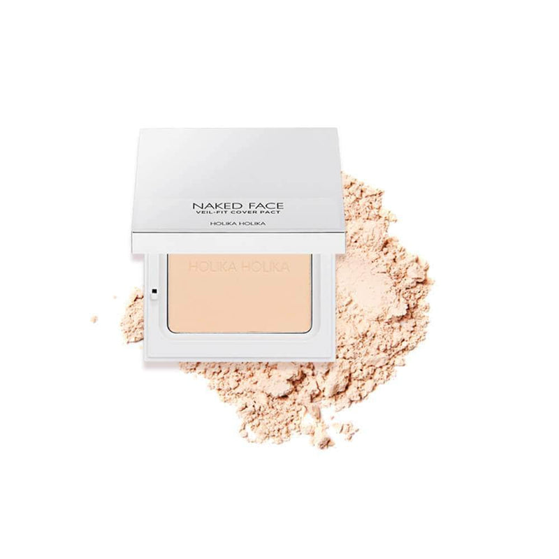 Bedak Padat | Naked Face Veil-Fit Cover Pact 01 Light Beige