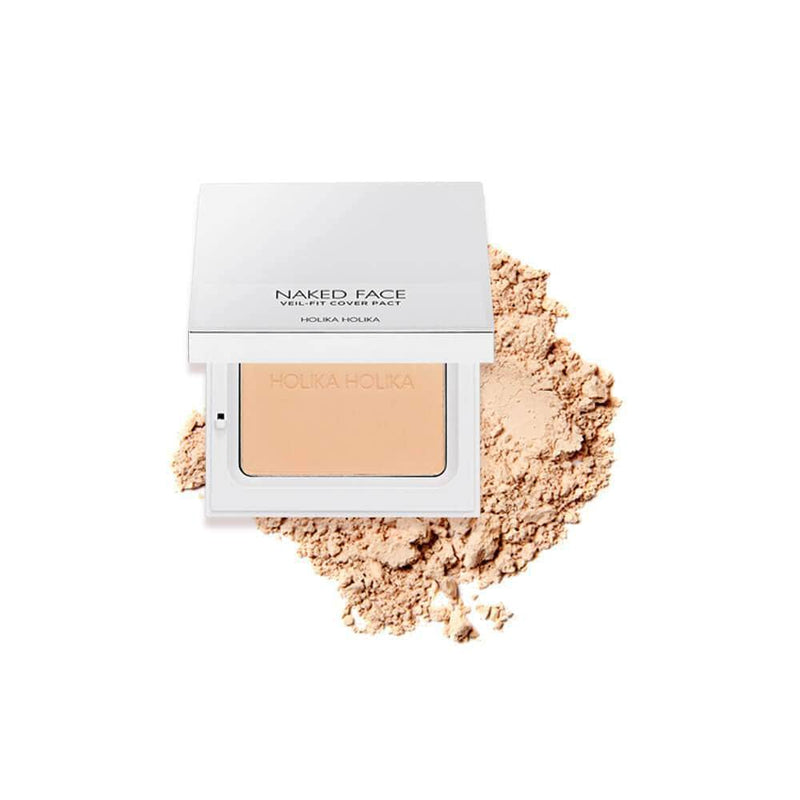 Bedak Padat | Naked Face Veil-Fit Cover Pact 02 Natural Beige