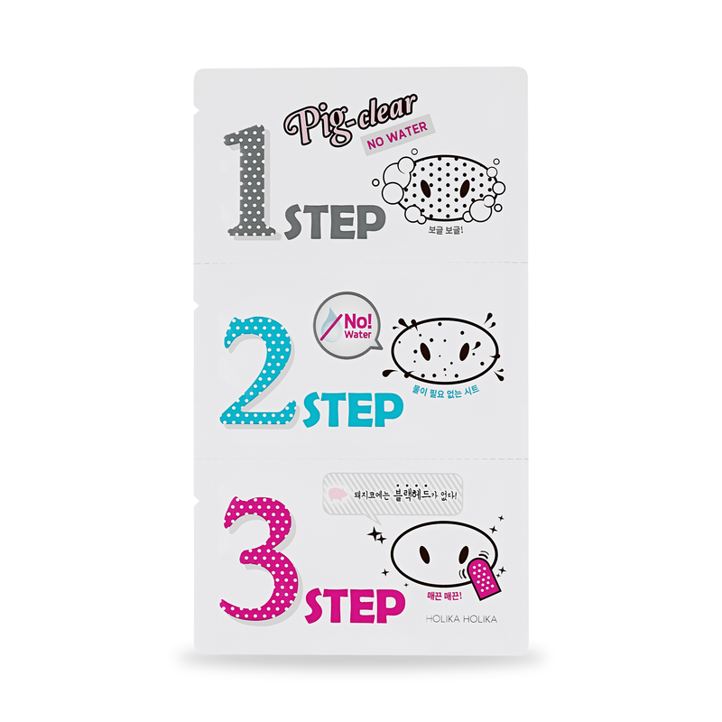 Holika Holika Pig-nose Clear Black Head 3-Step Kit - No Water