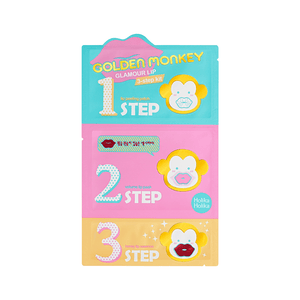 Golden Monkey Glamour Lip 3 Step Kit - Holika Holika