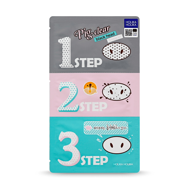Pig-nose Clear Blackhead 3 Step kit - Holika Holika