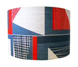 Abstract Square Lampshade: Red, Navy, Blue