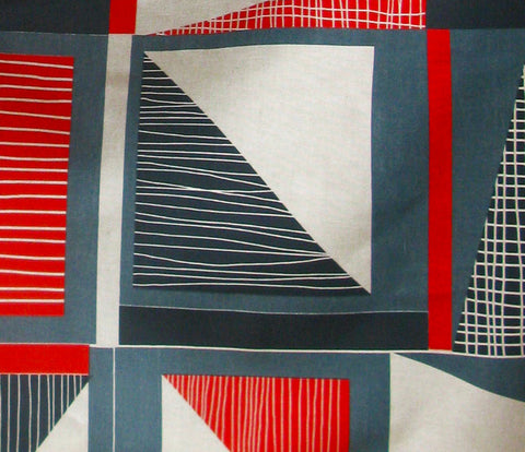 Abstract Square: Red, Navy, Blue