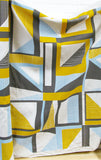Abstract Square: Yellow, Blue, Grey