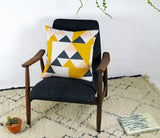 Aztec Cushion: Pink, Blue, Mustard