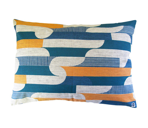 Curved Stripe: Large Cushion
