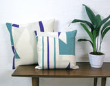 Slice Cushion: Purple, Teal, Taupe