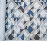Plane Curve Fabric: Charcoal, Grey, Navy