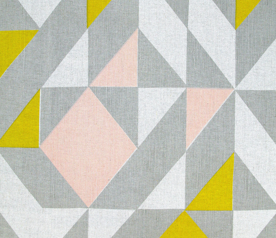 Plane Curve Fabric: Grey, Pink, Yellow