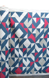 Plane Curve Fabric: Grey, Raspberry, Navy