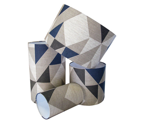 Plane Curve Lampshade: Blue, Grey, Charcol