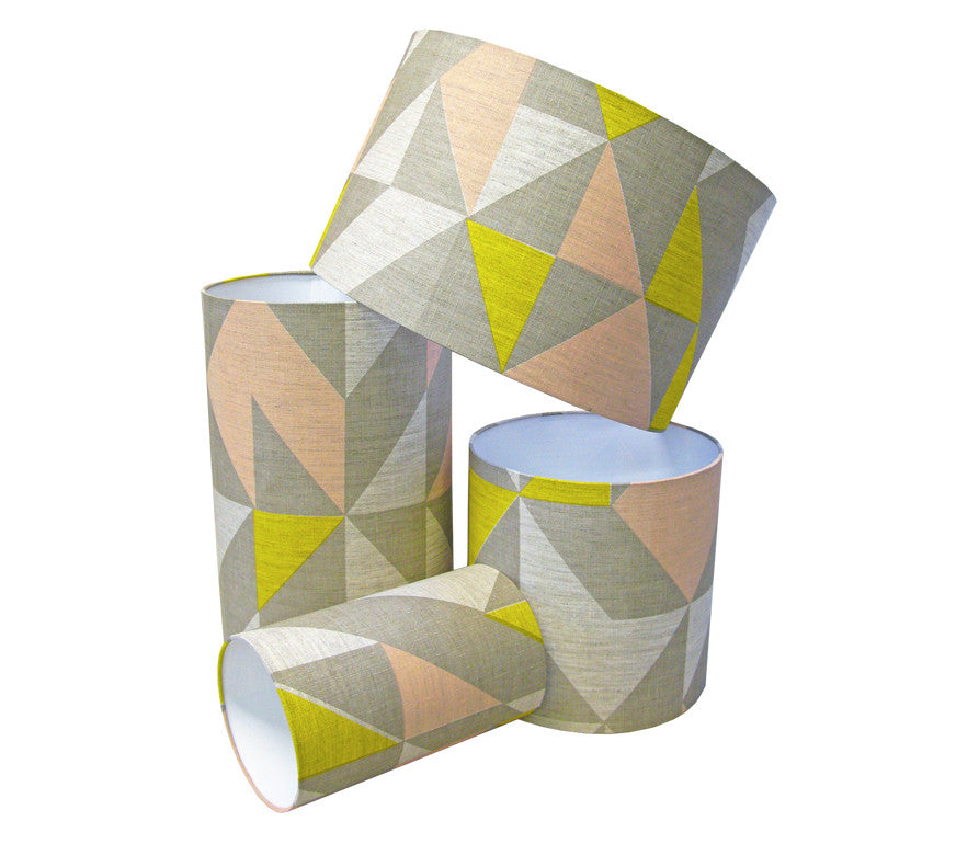 Plane Curve Lampshade: Grey, Pink, Yellow
