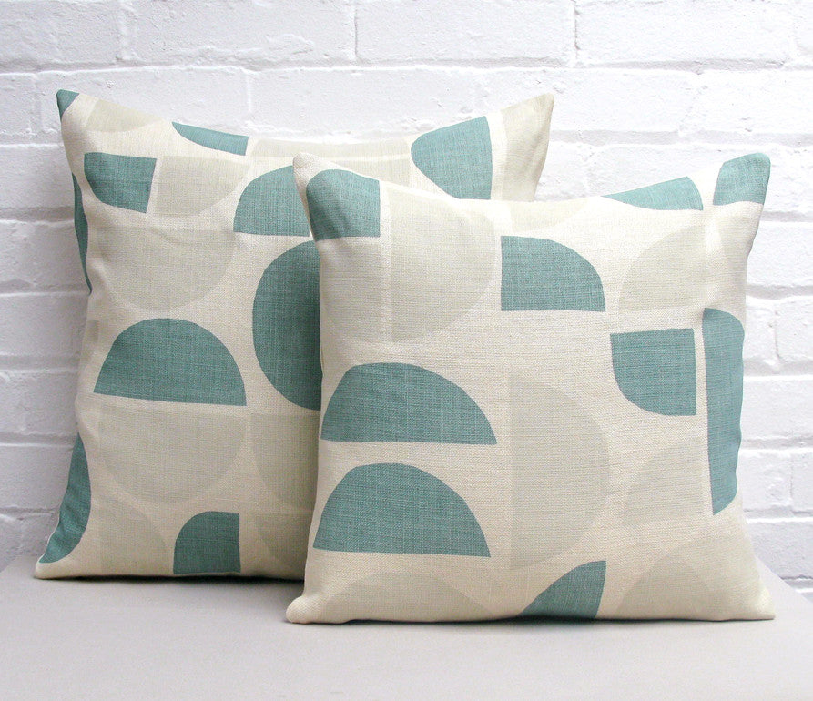 Radius Cushion: Taupe, Teal