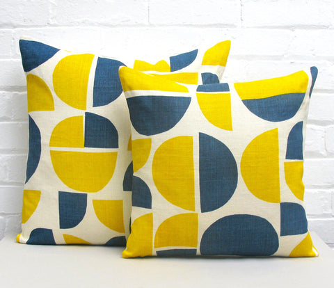Radius Cushion: Blue, Yellow