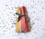 Textured Stripe Lavender Bag: Pink, Grey, Yellow