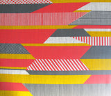 Textured Stripe: Pink, Grey, Yellow