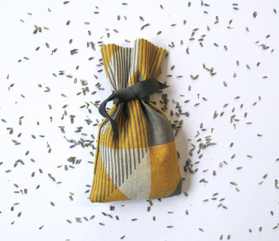 Trigonometry Lavender Bag: Yellow, Grey