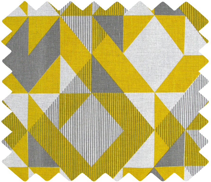 Trigonometry Swatch: Yellow, Grey
