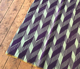 Overprinted Vintage Blanket: Plum Optic