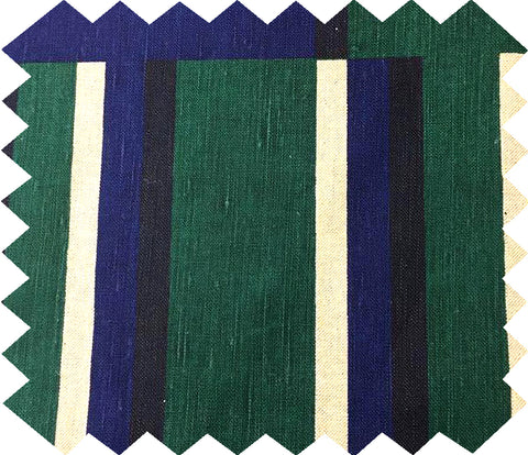 Kasbar Swatch: Green and Navy
