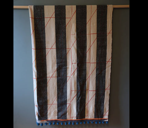 Angle Overprinted Striped Vintage blanket