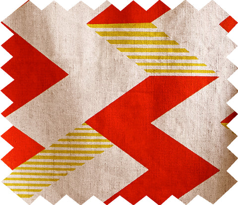 Zig Zag Swatch: Red and Lime