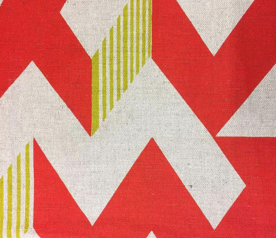 Zig Zag: Red and Lime