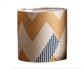 Snakes and Ladders Lampshade: Peach and Teal