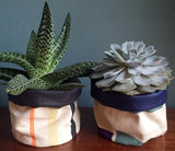 Limited Edition 10 Soft pot: Salmon, black and soft yellow