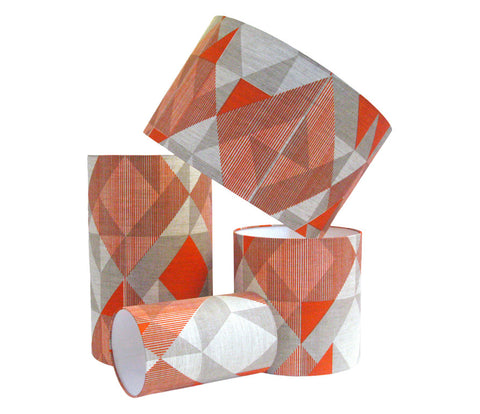 Trigonometry Lampshade: Orange, Grey