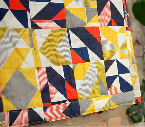 Trigonometry Patchwork Quilt