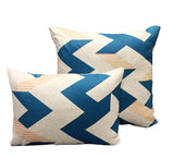 Zig Zag: Electric Blue and Peach