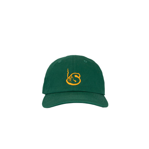 Green Unstructured Logo Cap