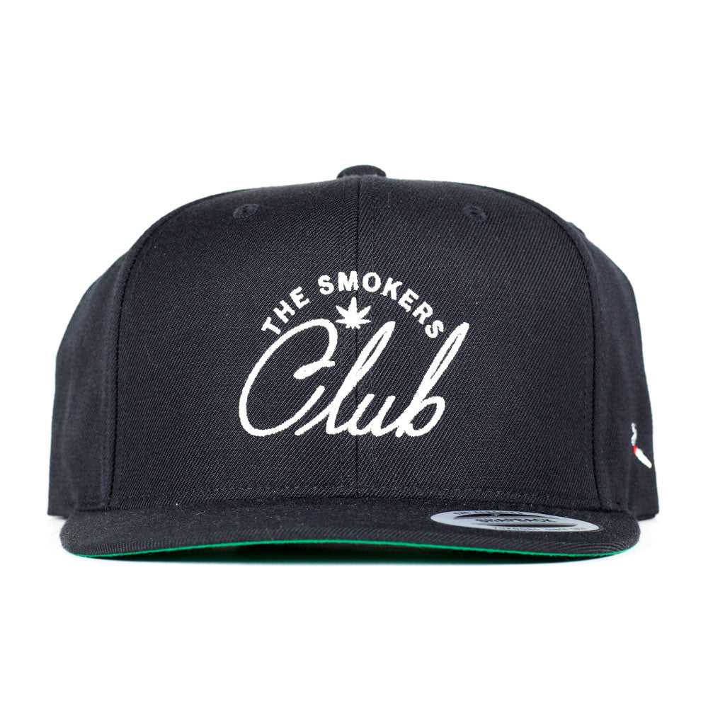 The Smoker's Club Logo Snapback (Black & White)