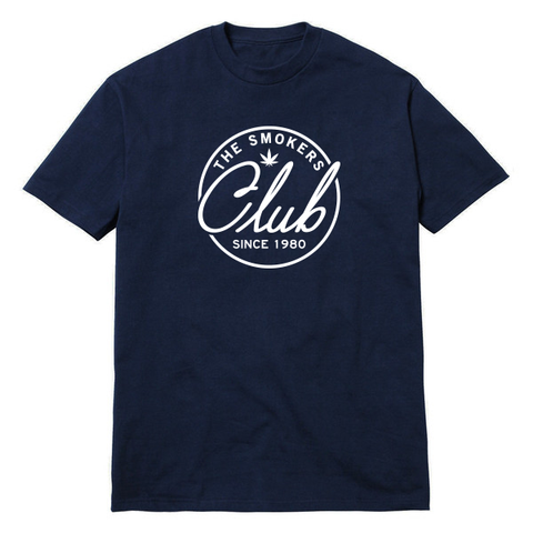 Navy & White Logo T-Shirt
