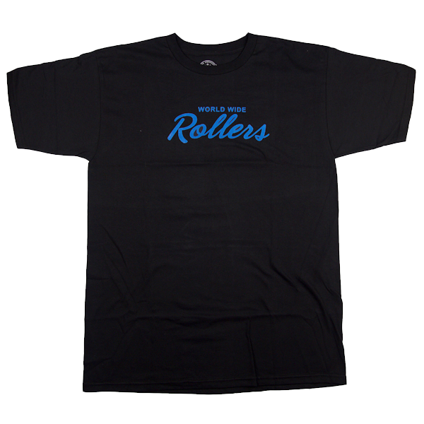 "Black ""World Wide Rollers Tshirt"""