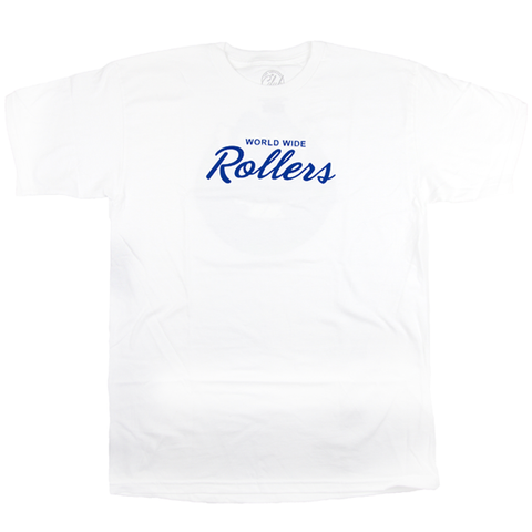 "White ""World Wide Rollers T-shirt"""