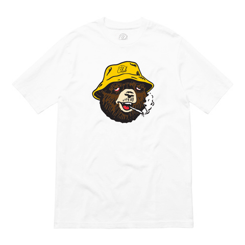 White Tokey Bear Tee