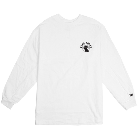 Free Agent White Long Sleeve