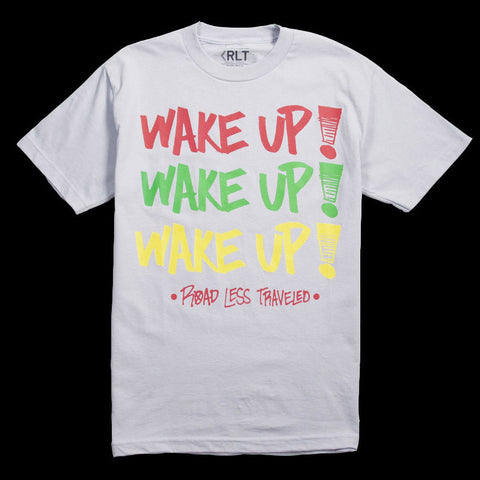 "Road Less Traveled ""Wake Up"" Tee (heather grey)"