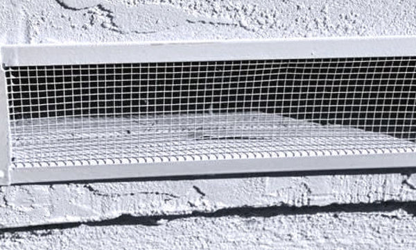 Screen Vents in the Chimney