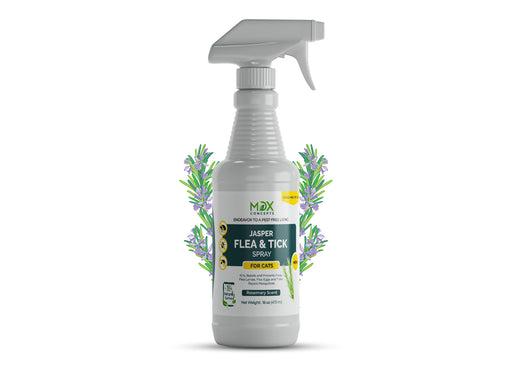 MDX Concepts flea & tick spray for cats is applicable for all kinds of fleas and ticks. Made with natural ingredients, the spray ensures safety for your dog from fleas, ticks and other pests that might cause any irritation or discomfort for your dog.