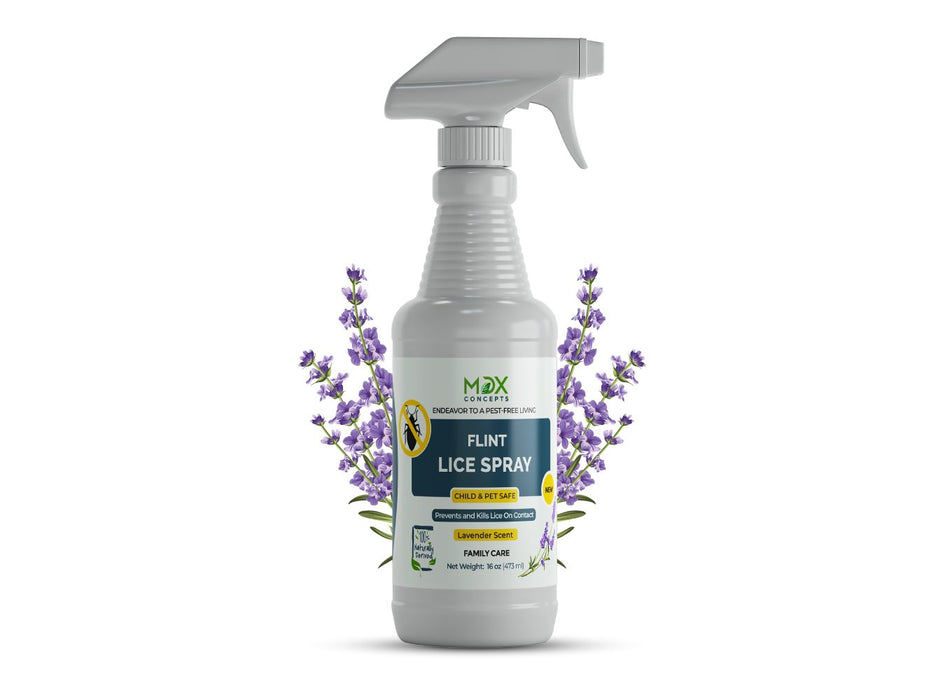 MDX Concepts lice spray repellent product kills the nymphs even before they become adults, thus making the process tirelessly efficient.