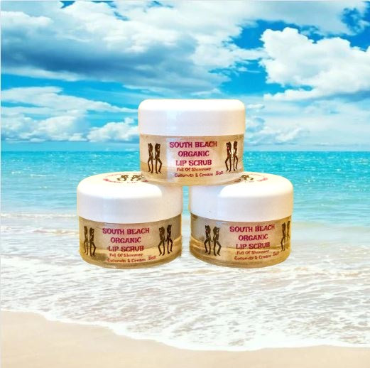 SOUTH BEACH ORGANIC LIP SCRUB .5OZ - South Beach Self Tan