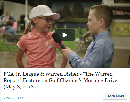 "PGA Jr. League & Warren Fisher - ""The Warren Report"" Feature on Golf Channel's Morning Drive"