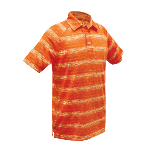 Riley - Kid's Performance Polo Yarn Dyed W/ Space Dyed Stripe