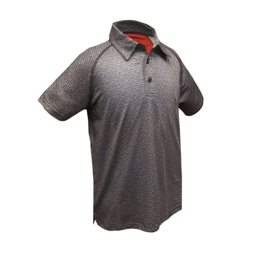 Heathered Gray Boys Golf Polo With Buttons from Garb
