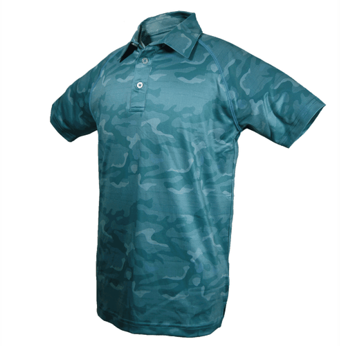 Adam - Boys Performance Camo Print Polo