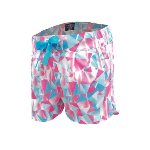 Crystal - Girl's Diamond Print Performance Drawstring Golf Shorts